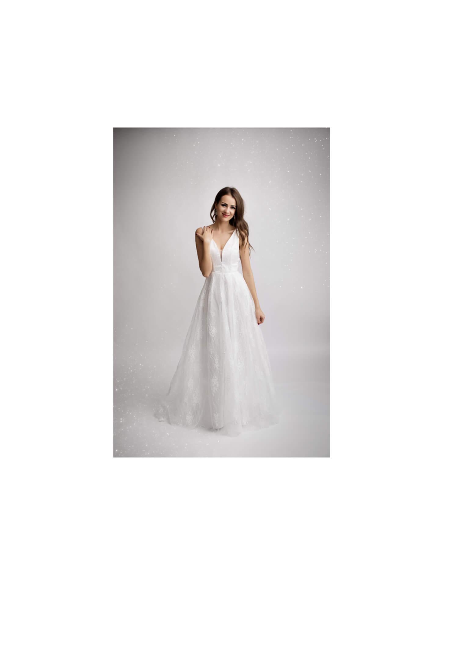 witte kanten lange jurk