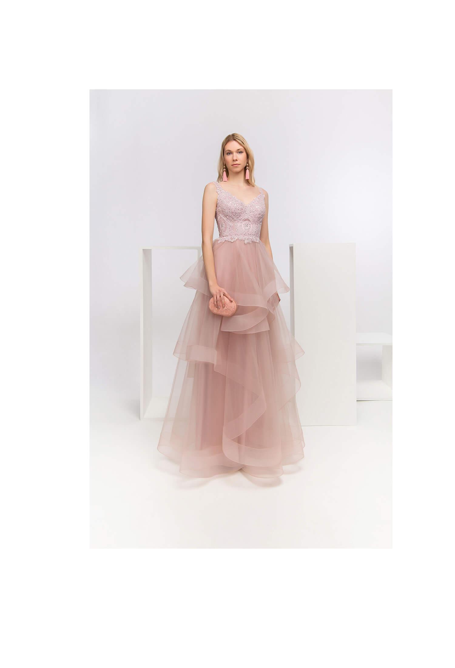 Romantische roze jurk