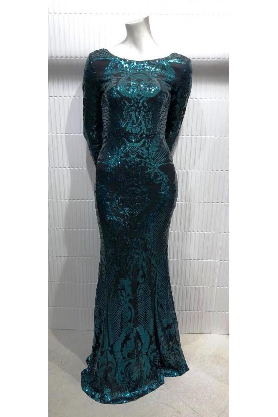 Gala jurk lange mouwen